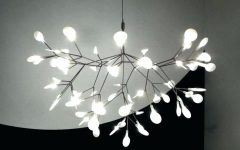 White Contemporary Chandelier