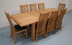 Oak Extending Dining Tables and 8 Chairs