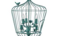 Turquoise Birdcage Chandeliers