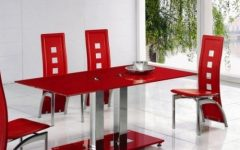 Red Dining Tables and Chairs
