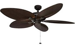 Outdoor Ceiling Fans with Palm Blades
