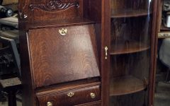 Antique Secretary Desk with Bookcases