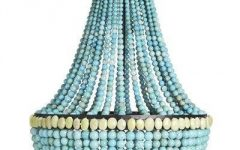 Turquoise Beaded Chandelier Light Fixtures