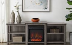 """Hetton Tv Stands for Tvs Up to 70"""" with Fireplace Included"""