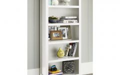 White 5 Shelf Bookcases