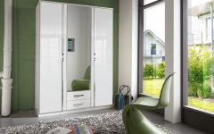 White Gloss Mirrored Wardrobes