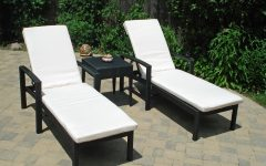 Black Chaise Lounge Outdoor Chairs