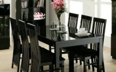 Black Gloss Dining Tables and Chairs