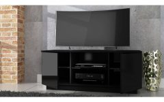 Black High Gloss Corner Tv Unit