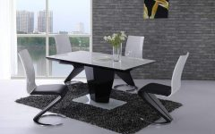 Black High Gloss Dining Tables and Chairs