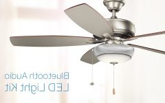 Outdoor Ceiling Fan With Bluetooth Speaker