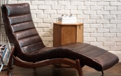 Brown Leather Chaise Lounges