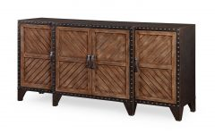 Burnt Oak Metal Sideboards