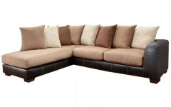Burton Leather 3 Piece Sectionals With Ottoman