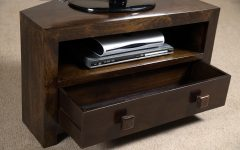 Black Wood Corner Tv Stands