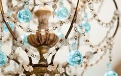 Turquoise and Gold Chandeliers