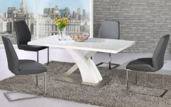 Cheap White High Gloss Dining Tables