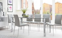 Glass And Chrome Dining Tables And Chairs