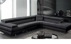 Tenny Dark Grey 2 Piece Right Facing Chaise Sectionals With 2 Headrest