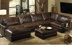 Brown Sectionals With Chaise