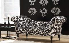 Damask Chaise Lounge Chairs