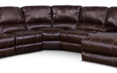 Norfolk Chocolate 6 Piece Sectionals with Raf Chaise