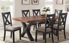 Craftsman 7 Piece Rectangular Extension Dining Sets with Arm & Uph Side Chairs