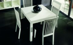 White Square Extending Dining Tables