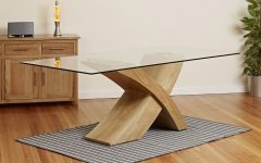 Oak Glass Dining Tables
