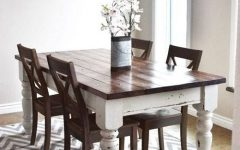 Dining Tables with White Legs and Wooden Top