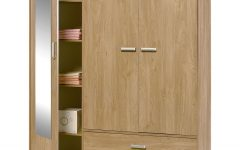 Oak 3 Door Wardrobes