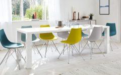 Extending White Gloss Dining Tables