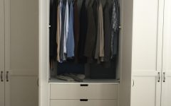 Double Rail Wardrobes With Drawers