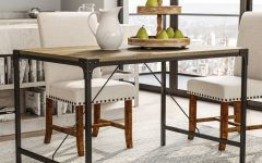 Iron And Wood Dining Tables