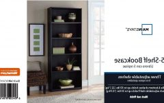 Mainstays 5 Shelf Bookcases