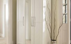 White 3 Door Wardrobes with Mirror