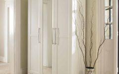 White 3 Door Wardrobes With Mirror