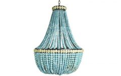 Large Turquoise Chandeliers