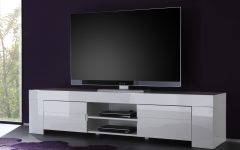 White High Gloss Tv Unit