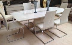 High Gloss Cream Dining Tables