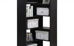Black Corner Bookcases