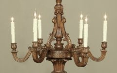 French Wooden Chandelier