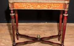 Orange Inlay Console Tables