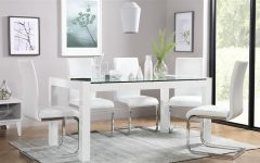 Glass Dining Tables White Chairs