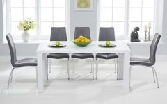 Shiny White Dining Tables