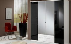 High Gloss Black Wardrobes
