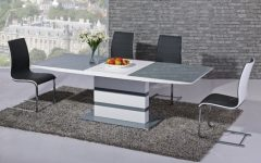 High Gloss Extending Dining Tables