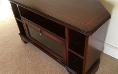 Dark Wood Corner Tv Cabinets