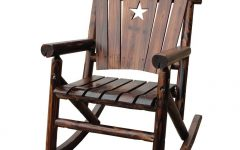 Char Log Patio Rocking Chairs with Star