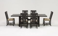 Jaxon 7 Piece Rectangle Dining Sets with Wood Chairs